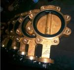 Aluminum - Bronze Wafer Butterfly Valve , Triple Offset Butterfly Valve For Water Systems
