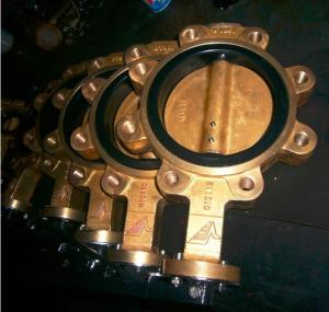 China Aluminum - Bronze Wafer Butterfly Valve , Triple Offset Butterfly Valve For Water Systems on sale