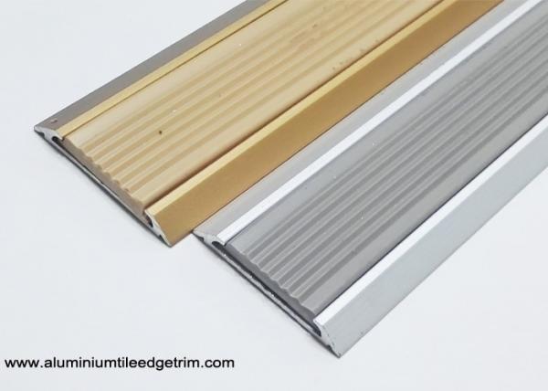 35 Mm Width Flat Aluminium Threshold Strip With Anti Slip Rubber