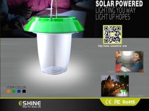 China Lanterna de acampamento solar leve solar conduzida recarregável com micro porta usb on sale