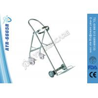 Stainless Steel Medical Hospital Oxygen Bottle Trolley With Four Wheel