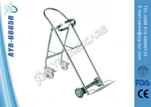 China Stainless Steel Medical Hospital Oxygen Bottle Trolley With Four Wheel on sale
