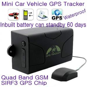 China GPS104 Waterproof Car Truck Vehicle GPS SMS GPRS Tracker Cut-off oil & engine remotely 6000mAh Battery for 60day Standby on sale