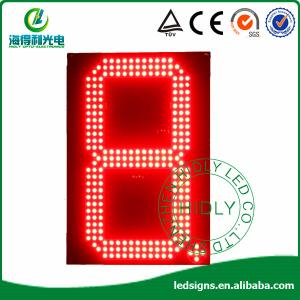 """China 12"""" red color led signs wholesale direct for gas station on sale"""