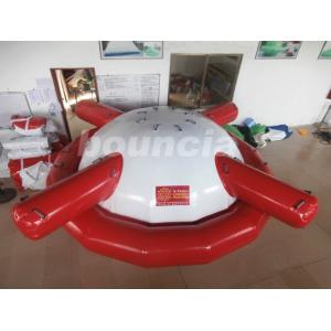 China Commercial Grade PVC Tarpaulin Inflatable Saturn Rocker For Water Games on sale