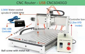 China 6040 USB 3 Axis Mini CNC Router Engraver Machine , Table Top CNC Router on sale