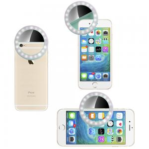 China 40 LED Phone Light Selfie Rechargeable Selfie Ring Light Warm And Cool LED Selfie on sale