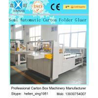 Semi Auto Carton Folder Gluer Machine Die Cut PrintingMachine 4kw
