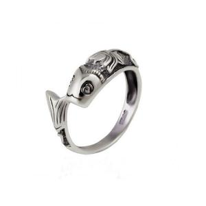 China Vintage Sterling Silver Mermaid Band Ring for Women (R121406) on sale