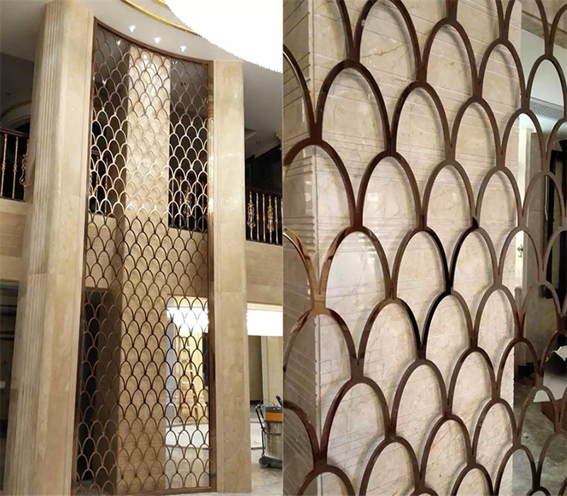 Interior Decorative Wall Covering Panels Laser Cut Metal