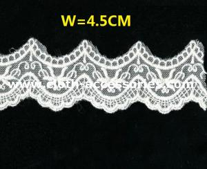 China 10 Floral Sewing Embroidered Lace Fabric Eco Friendly Dyeing SGS on sale