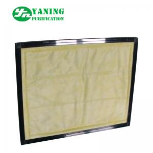 China Medium Efficiency Panel Pocket Air Filter , F8 Bag Filter For Clean Equipment on sale
