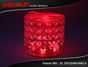 China Red Gas Filled Outdoor Solar Lanterns / Camping Hiking Lights on sale