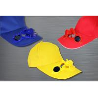 China Cotton Solar Cooling Fan Baseball Cap on sale