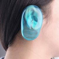 China Protect Silicone Ear Covers , Blue Clear Silicone Ear For Personal Use / Hairdressing Salon on sale