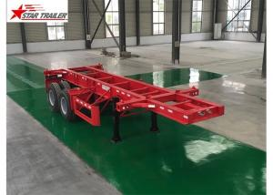 China Leaf Spring Type 40 Ft Low Bed Trailer , 40 Foot Triple Axle Trailer For Truck on sale