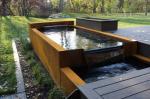 Shaped Corten Steel Water Feature Rusty Outdoor Modern Sculpture