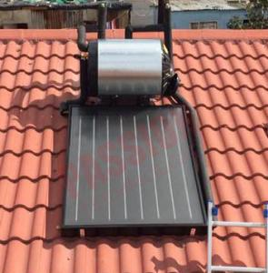 China Portable Solar Water Heater Freeze Resistant Flat Panel Solar Collector on sale