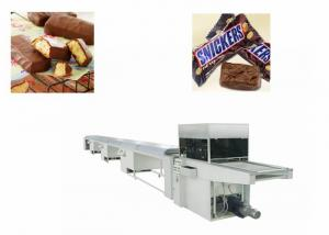 China Automatic Snack Pie Coated Chocolate Bar Production Line Belt Width 400 mm on sale