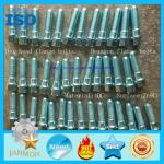 Bolt with Hole in Head ,Hex head bolts with holes,Hex bolts with holes on head,HighTensile,zinc plated hex flange bolt