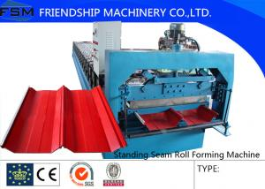 China Color Steel Aluzinc Panel Standing Seam Roll Forming Equipment Hydraulic System on sale
