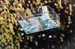 17.5x13x6cm Green Glitter Clear Aesthetic Desk Organizer
