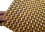 Gold Color Architectural Wire Mesh, Crimped Flat Wire Screen Mesh 6mm Aperture