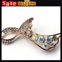 Big Bow Brooch Wedding Accessories,Golden Large Crystal Brooch ,Rhinestone Decoration
