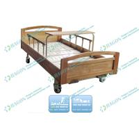 China Cold rolled Steel adjustable Manual Hospital Bed With Wood Detachable Board on sale