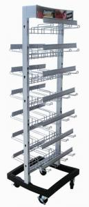 China Two Side Wire metal shelving rack Retail Store Modular With Multiple Hooks on sale