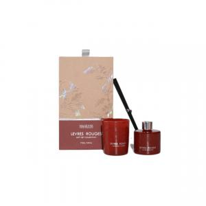 China Small Home Fragrance Gift Sets , Glass Jar Candle Perfume Gift Set on sale