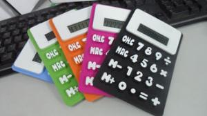 China SGS custom  Flexible Electronic Silicone gel  Solar Calculator for promotion gifts on sale