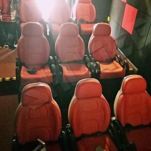China Excellent Design Electric 5D Theater Seats For Mini Cinema Red Color on sale