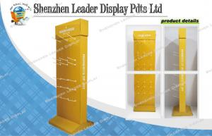 China Yellow Print Two Sides Cardboard Hook Display for House Appliance on sale