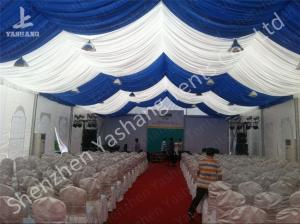 China White and Blue Top Lining Outdoor Party Event Tents Structure, aluminum profile on sale