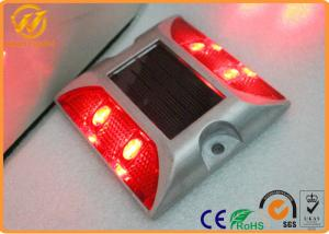 China 105*105*23mm LED Solar Road Stud / Reflective Studs On The Road , 1000mm Visual Distance on sale