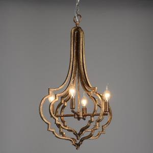China Antique bronze chandelier 4 lamp holders indoor home lighting (WH-CI-44) on sale