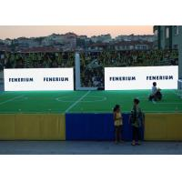 Sports Ground LED Stadium Advertising Boards , P6mm IP65 Soccer Field LED Screen