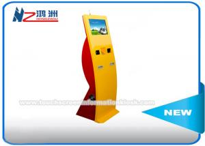 China Bent Design Utility Bill Self Service Payment Kiosk With Small Keybord 19 Inch on sale