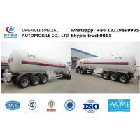 ASME standard 57.1m3 CH2 propene gas tank trailer, 24.5ton propylene CH2 semitrailer propylene tank trailer for sale