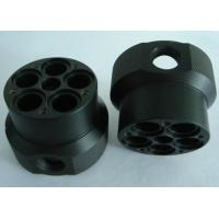 Custom black ABS machined plastic parts by material cutting, CNC turning and CNC milling