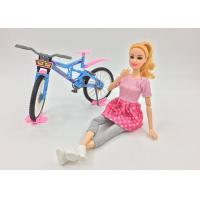 China Fashion Doll Children's Play Toys with Bike and Helmet 11 Joints Movable Elbows on sale
