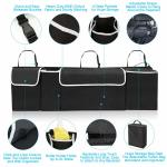 Hanging Car Trunk Organizer with Removable Cooler Collapsible Trunk Organizer with Lid