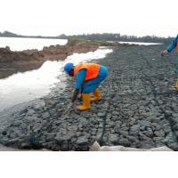 Flood Control PVC Coated River Control Gabion Basket , Wire Basket Stone Wall