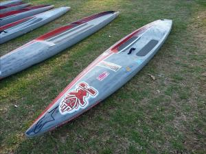 China Bamboo Inflatable Race Sup , Inflatable Standing Paddle Board Fiberglass EPS on sale