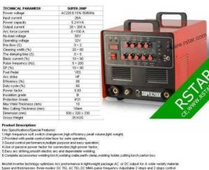 China AC/DC PULSE TIG 3in1 welder Plasma SUPER200P on sale