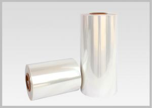 China Water Soluble PVC Shrink Film Rolls High Shrinkage Ratio For Full Body Sleeves on sale