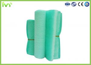 China Fiberglass Paint Booth Air Filter Media 50mm / 100mm Thickness 1μm Porosity on sale