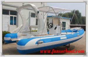 Durable 18 Foot Hard Bottom Inflatable Rib Boats 10 Person