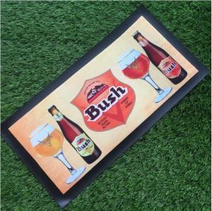 China Custom Make Non-woven Fabrics Beer Mat / Bar Spill Mat With Logo Heat Transfer Printing on sale
